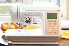 Sewing machine. And other sewing equipment Royalty Free Stock Photography