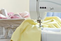 Sewing machine. And other sewing equipment Royalty Free Stock Photo