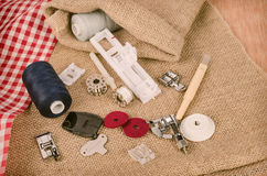 Sewing machine parts Stock Photos