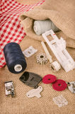 Sewing machine parts Royalty Free Stock Photography