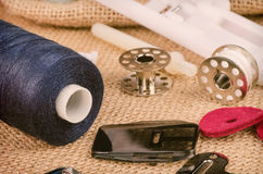 Sewing machine parts Royalty Free Stock Image