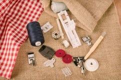 Sewing machine parts Stock Photo