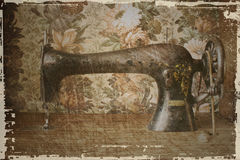 Sewing machine in retro style Royalty Free Stock Image
