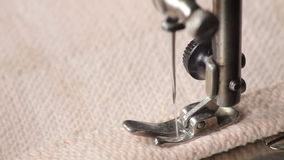 Sewing machine stock video