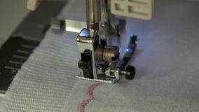 A sewing machine, sew the fabric stock video