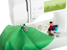 Sewing machine and supplies Stock Photography