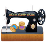 Sewing machine, vector Royalty Free Stock Images