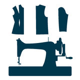 Sewing machine. Royalty Free Stock Photography
