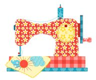 Sewing machine on white. royalty free illustration