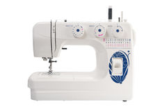 Sewing machine of white color Royalty Free Stock Image