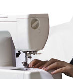 Sewing machine Work. Work on the sewing machine Royalty Free Stock Photography