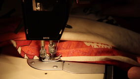 Sewing Machine in Work stock footage