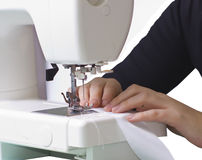 Sewing machine1. Work on the sewing machine Stock Photography