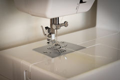 Sewing machineready. Sewing machine ready to use Old tone Royalty Free Stock Photography