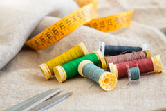 Sewing material with centimeter Tailor Stock Photo