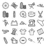 Sewing Material Isolated Vector Icons vector illustration