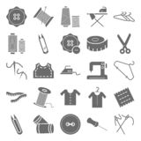 Sewing Material Isolated Vector Icons Very Useful For Sewing, Stitching and Tailoring vector illustration