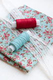 Sewing materials Royalty Free Stock Photo