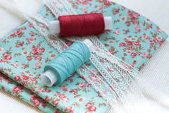 Sewing materials Royalty Free Stock Photography