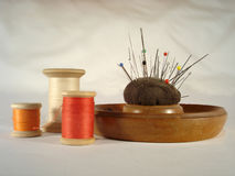 Sewing materials. Old sewing materials Stock Image