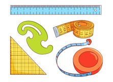 Sewing measure tools Stock Image
