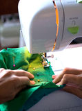 Sewing on a modern machine Stock Photos
