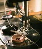 sewing Naaimachine en hulpmiddelen stock foto