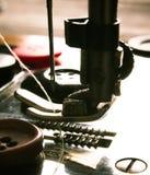 sewing Naaimachine en hulpmiddelen royalty-vrije stock fotografie