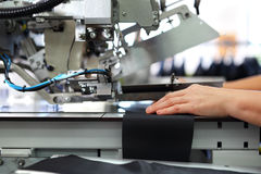Sewing navy in a tailor's shop. royalty free stock photos