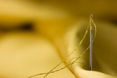 Sewing needle detail Royalty Free Stock Photos