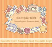 Sewing and needlework background vector illustration