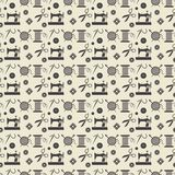 Sewing and needlework background. Background for sewing, needlework, pattern. Black  sewing equipment and needlework. Vector illustration Royalty Free Stock Photos
