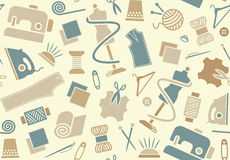 Sewing and needlework background Stock Photos