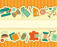 Sewing and needlework banner Royalty Free Stock Photos