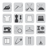 Sewing and needlework icons Royalty Free Stock Image