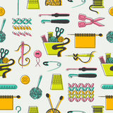 Sewing and needlework pattern Stock Photos