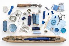 Sewing objects Royalty Free Stock Images