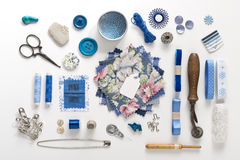 Sewing objects Stock Photos