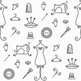 Sewing outline pattern Royalty Free Stock Photos