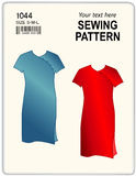 Sewing Pattern, Dresses Royalty Free Stock Images