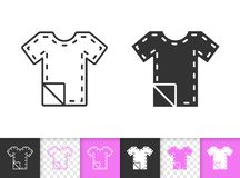 Sewing Pattern simple black line vector icon vector illustration