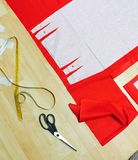 Sewing pattern and tools Royalty Free Stock Photo