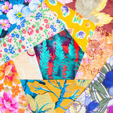 Sewing pieces of patchwork quilt close up Stock Photography