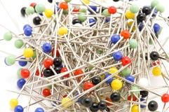 Sewing pin macro Stock Photos