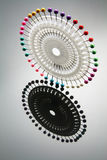 Sewing Pins. Sewing Pin Wheel with Reflection Stock Photo