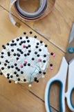 Sewing pins Stock Photo