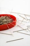 Sewing pins royalty free stock photo