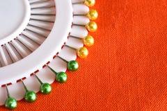 Sewing Pins Close Up stock photo