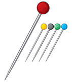Sewing pins Royalty Free Stock Photography