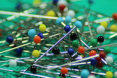 Sewing pins Royalty Free Stock Image